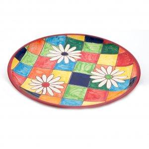 Side_Plate_Flowers_on_Squares_20cm