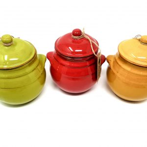 Storage Jar With Lid- Lime,Red,Yellow