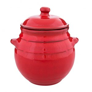 Selena_Red_Green_Storage_Jar_15cm