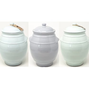 rustic pastel storage jars