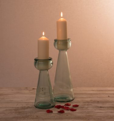 Candle Holders - 100% Recycled Glass