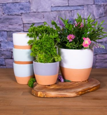 Rustic Pastel Herb Pots - re-sized